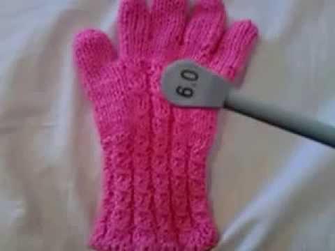 Como tejer guantes para hombre - YouTube