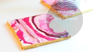 DIY Agate Coasters! Cheap Materials - Anthropologie Inspired