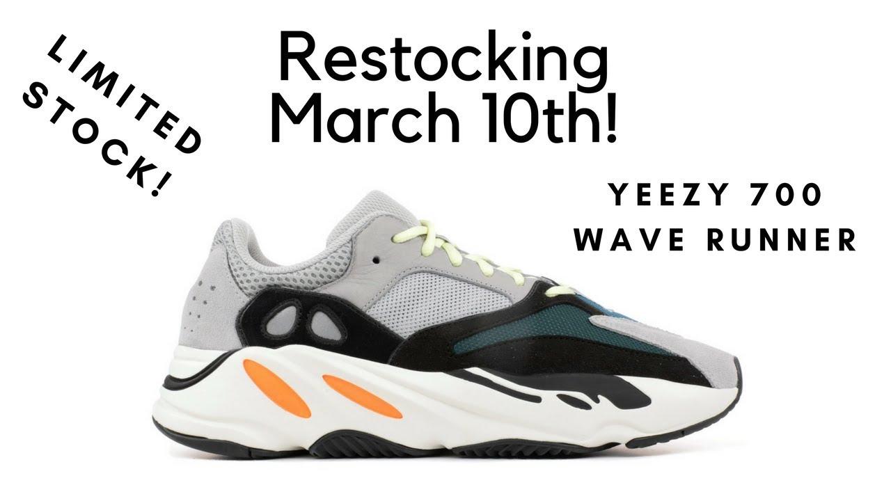 8b56c7b47 YEEZY BOOST 700  WAVE RUNNER  Restock ! March 10th - YouTube