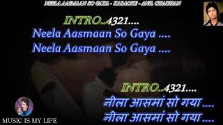 Neela Aasman So Gaya Male Karaoke With Scrolling Lyrics Eng. & हिंदी