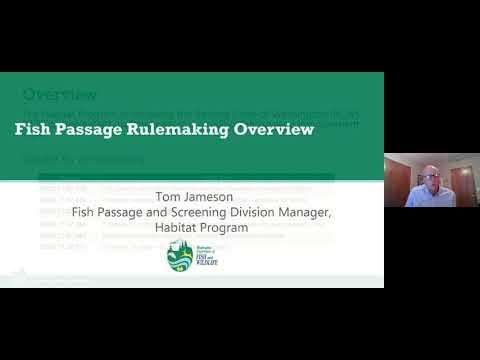 Fish Passage Rule Making Public Meeting (July 29, 2020)