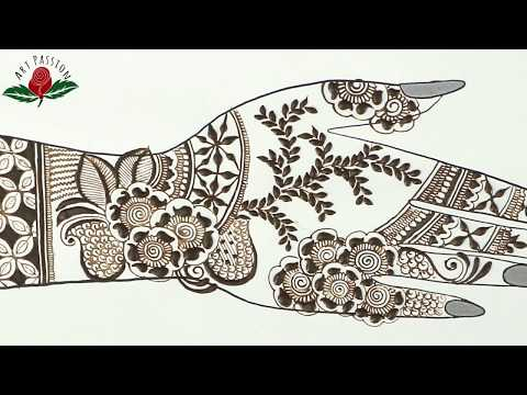 simple latest mehendi art design for hands 2018 heena designs