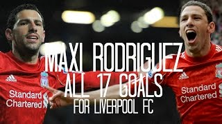 Maxi Rodriguez - All 17 Goals for Liverpool FC - 2010/2012 - English Commentary (Just Goals)