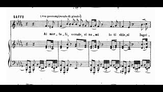 SAFFO (Pacini) - Ai mortali, o crudo - AMELIA PINTO (1914)