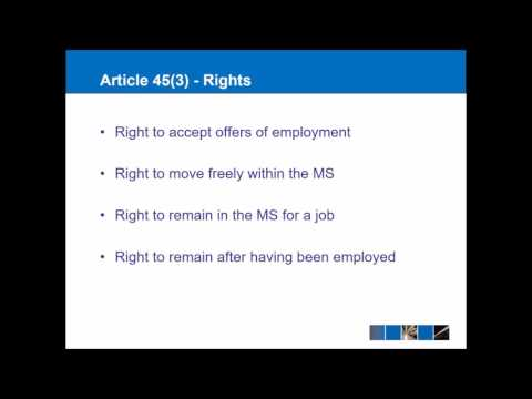 Article 45 - Free Movement of Workers