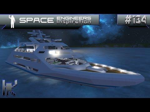 Space Engineers Inspiration - Episode 134: USS Seeker, Type 72 Frigate, & Lyra Luxury Yacht