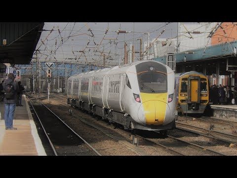 (4K) Trains at Doncaster, ECML 28/3/18