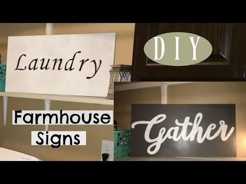 "DIY Farmhouse Wood Sign | ""Easy Hack"" when you don't have stencils!"