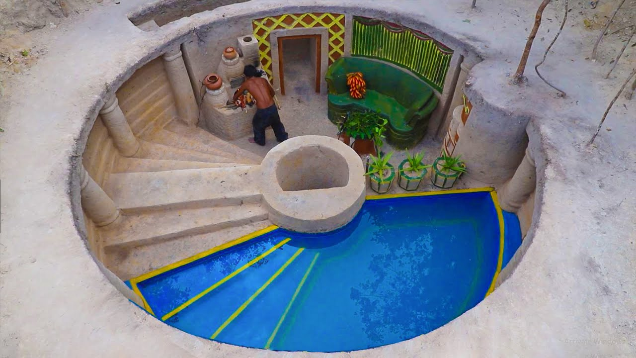 Dig To Build The Greatness Underground water well And Amazing Underground stove cooking