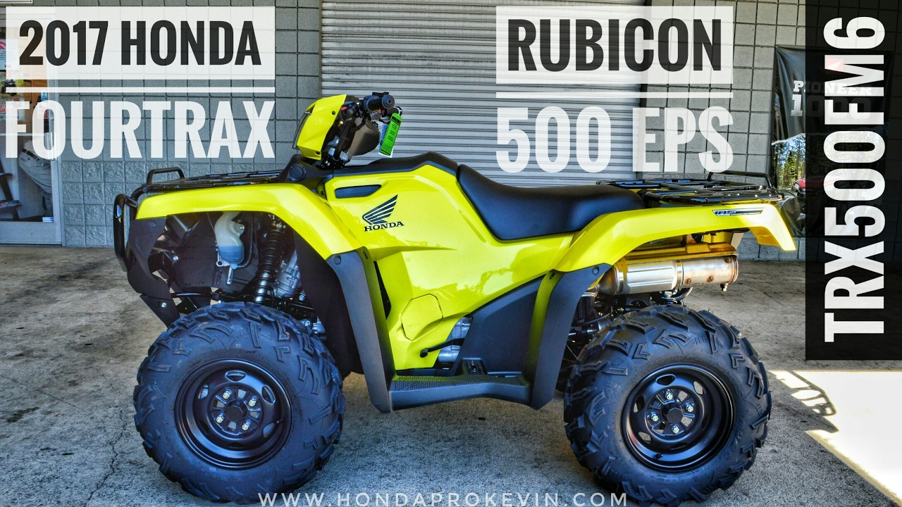 2018 honda rubicon. simple rubicon 2017 honda rubicon eps 500 4x4 atv trx500fm6h walkaround video  yellow  hondaprokevincom on 2018 honda rubicon 5