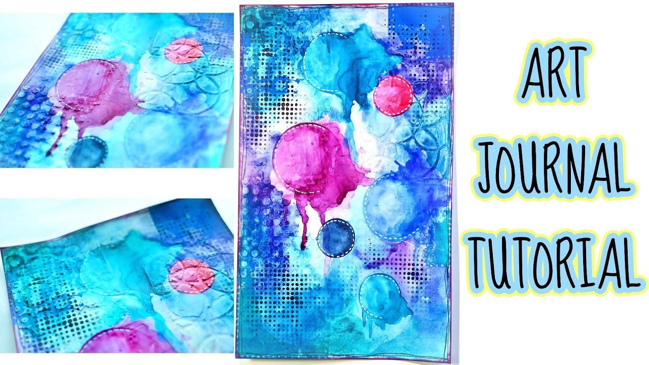Art Journal Calendar Tutorial : Love of shapes art journal tutorial ♫ youtube