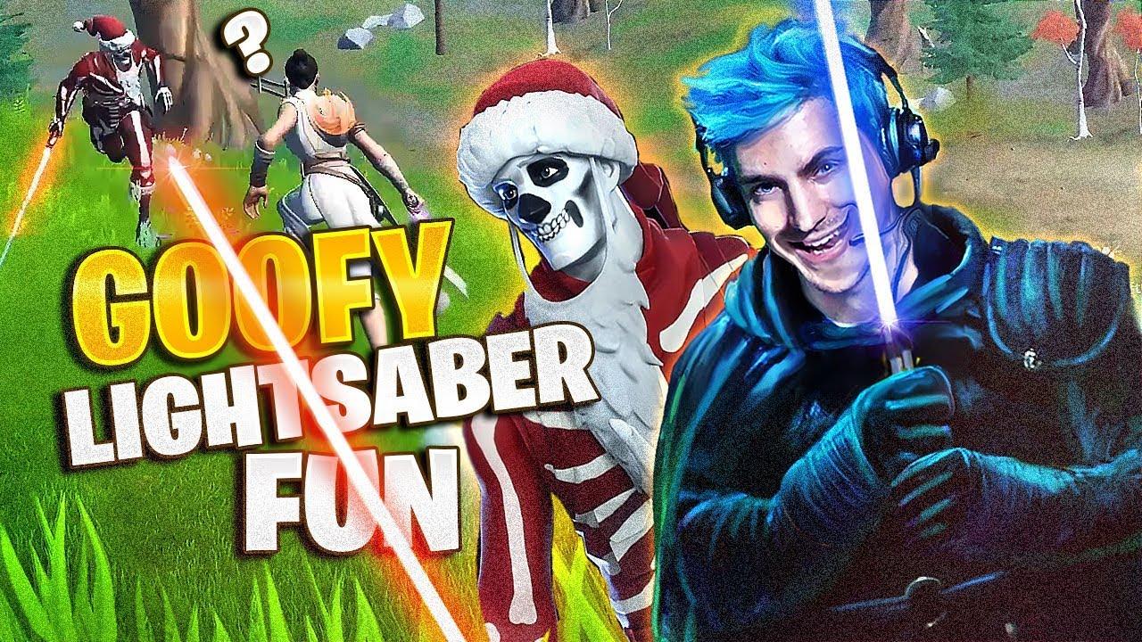 GOOFY LIGHTSABER GAME! - Fortnite Battle Royale thumbnail