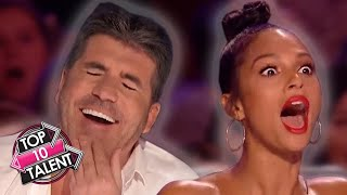 10 RUDEST And FUNNIEST Comedian Auditions On Britain And America's Got Talent!