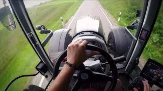 Let´s Drive Valtra T174 Versu SmartTouch mit Krone TX460 beim Grünrogen häckseln 2018 Teil 1