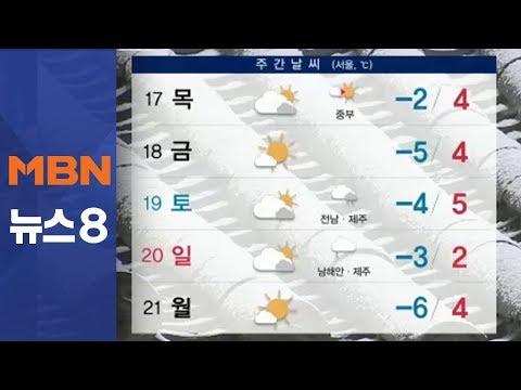 내일 아침 반짝 강추위…미세먼지 해소 [뉴스8]