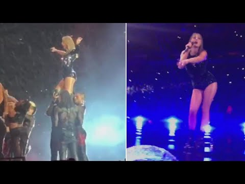 Taylor Swift Won't Let A Little Rain Ruin Her 'Reputation' Tour