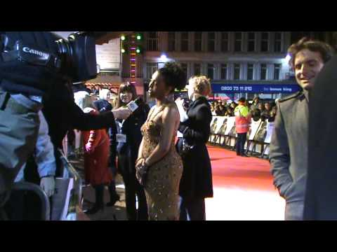 Actress Adjoa Andoh on the red carpet  Invictus UK Premiere