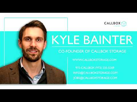 Kyle Bainter, Founder of Callbox Storage on the radio in Dallas