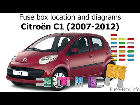 Fuse box location and diagrams: Citroen C1 (2007-2012) - YouTubeYouTube
