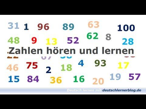 Zahlen lernen und hören - Deutsch lernen - Learn German - Numbers ...