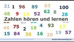 Zahlen lernen und hören - Deutsch lernen - Learn German - Numbers