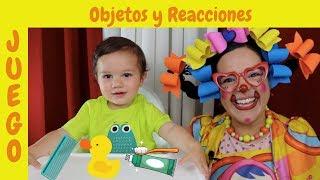 Vocabulario y reacciones sobre objetos de higiene personal  para niños