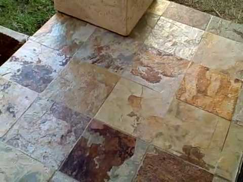 Acrylic Stone Sealer On Slate Tile Review Youtube
