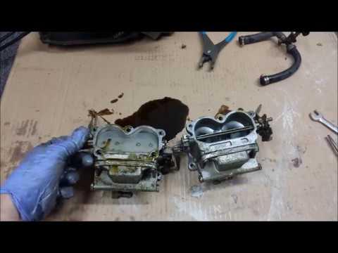 1978 evinrude 85 hp - carburetors and fuel lines