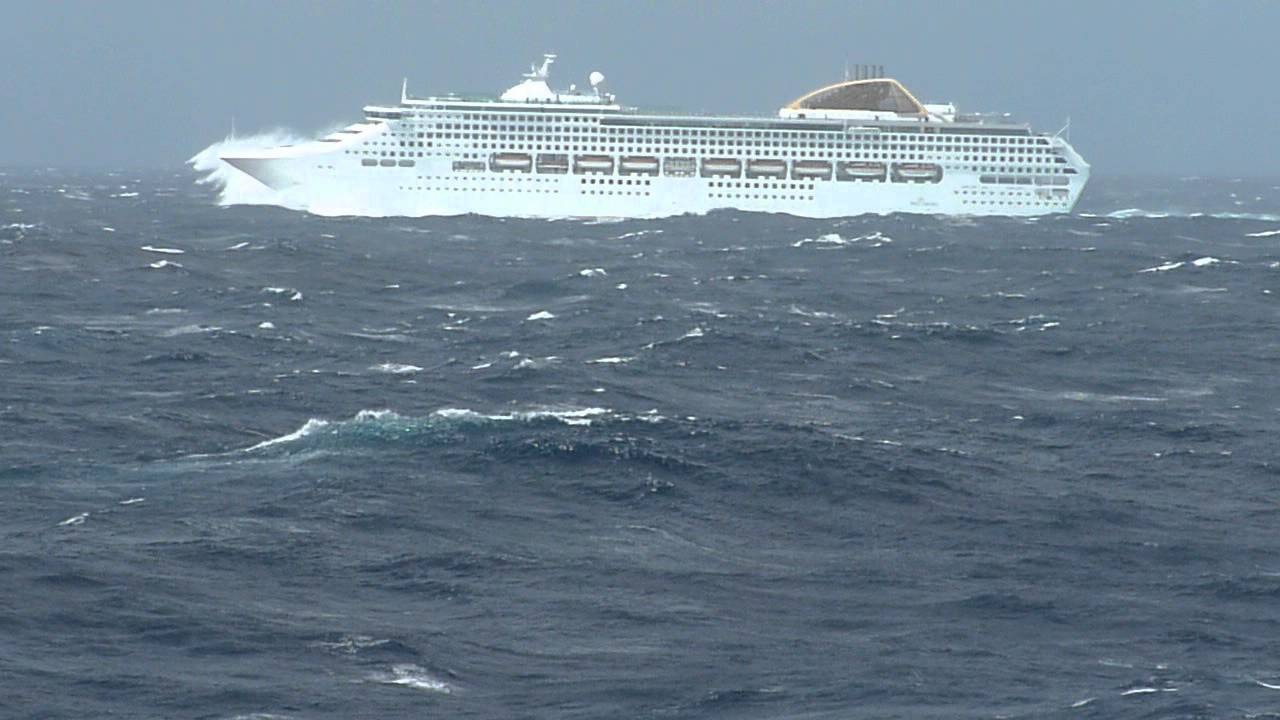 POs Oceana In Heavy Seas In Bay Of Biscay YouTube - Cruise ship hits rough seas