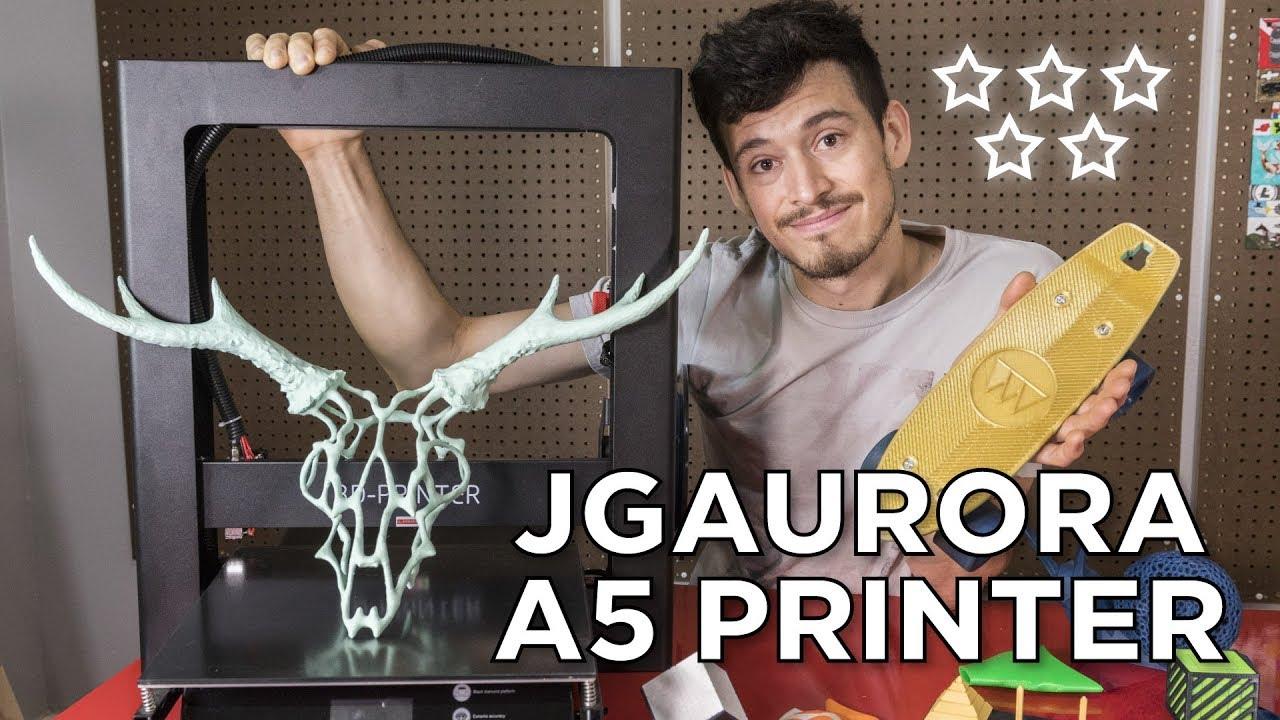 video JGAURORA A5S 3D Printer