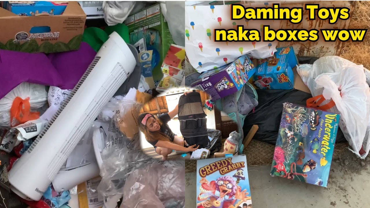 Dumpster Diving Wow Haul Boxes of Toys,Candles Thrown in the Dumpster Jackpot Amazing Finds!!