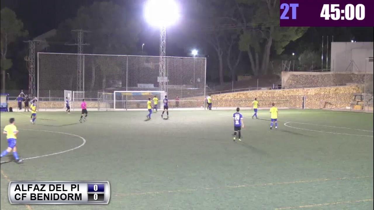 Video del partido entre el Alfaz del Pi y el CF Benidorm que hemos transmitido en directo
