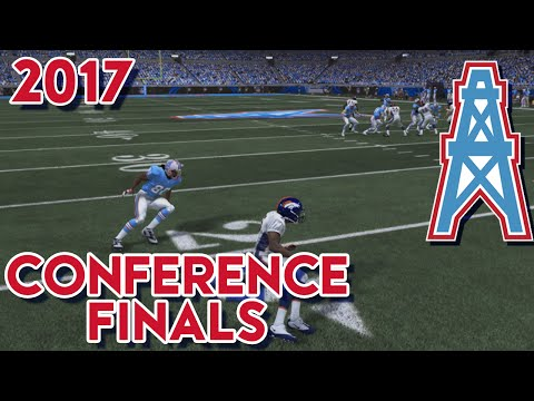 Madden 15 Franchise Mode - Houston Oilers | Season 4 Conference Playoff vs Broncos