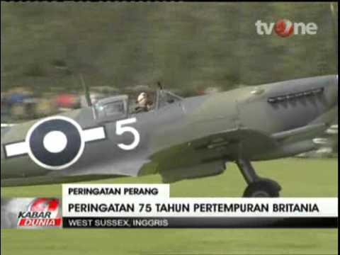 Atraksi Pesawat Tempur Klasik Inggris Peringati PD II