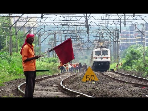 RED FLAG , CAUTION & DURONTO EXPRESS - Indian Railways !!