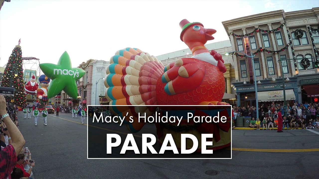 Macy's Holiday Parade 2015 | Universal Studios Florida