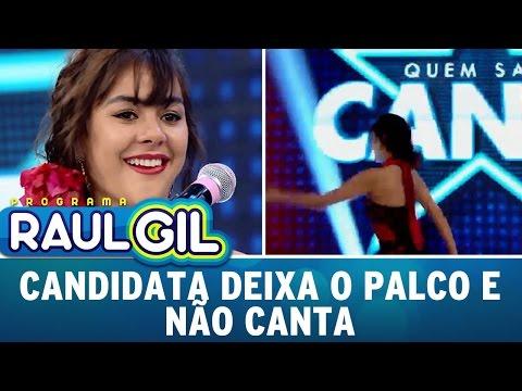 Programa Raul Gil (24/09/16) - Candidata deixa palco e acaba não cantando