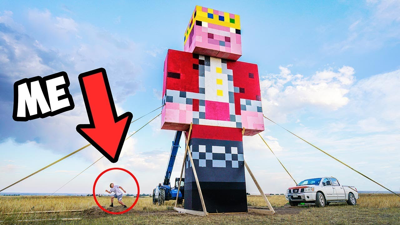 Download I Built The World's Largest Minecraft Statue