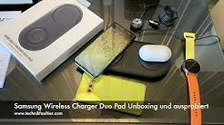 Samsung Wireless Charger Duo Pad Unboxing und ausprobiert