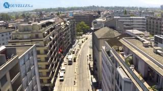 Flâneries Genève - Rue de Carouge vu du ciel