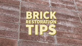 Outdoor Brick Restoration and Repair | how to clean properly