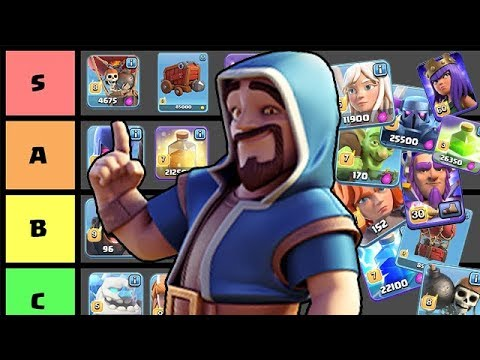 FULL CLASH OF CLANS TROOP *TIER LIST* WITH SPELLS & SIEGE! (UPDATED)