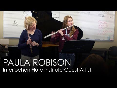 Paula Robison: Guest Flute Instructor