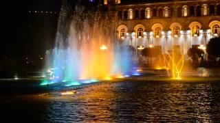 Armenia, Yerevan: Music fountain on Republic Squre
