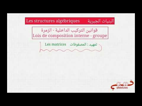 شرح شامل لدرس البنيات الجبرية علوم رياضية للبكالوريا للأستاذ منير مرواني