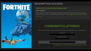 How to redeem the NVIDIA FORTNITE COUNTERATTACK SET BUNDLE and why your code isn't working