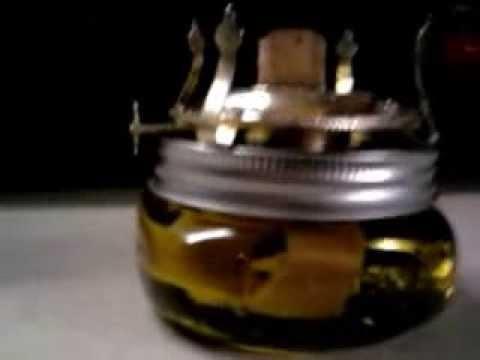 Burn olive oil in a regular Kerosene lamp