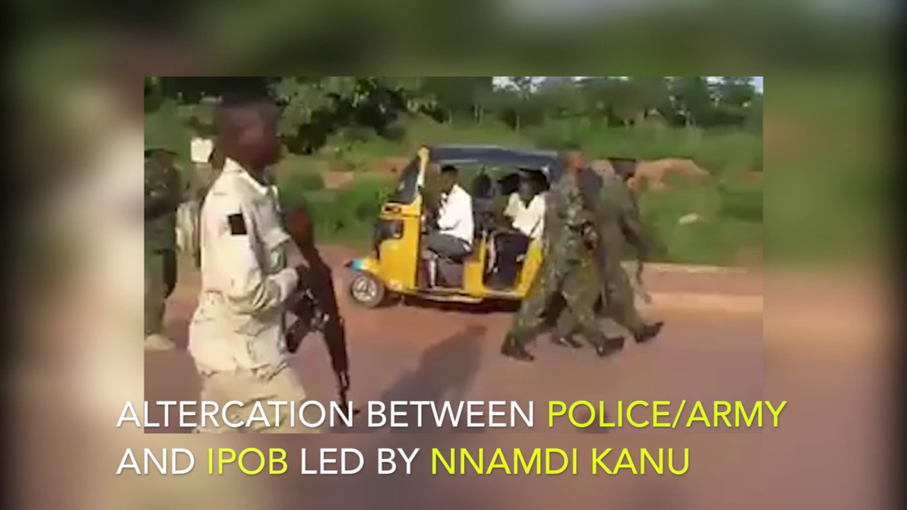 Altercation Between Nigerian Police Army/Police And IPOB Led By Nnamdi Kanu