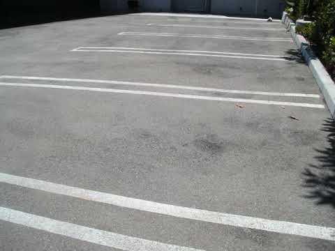 commercial building parking area