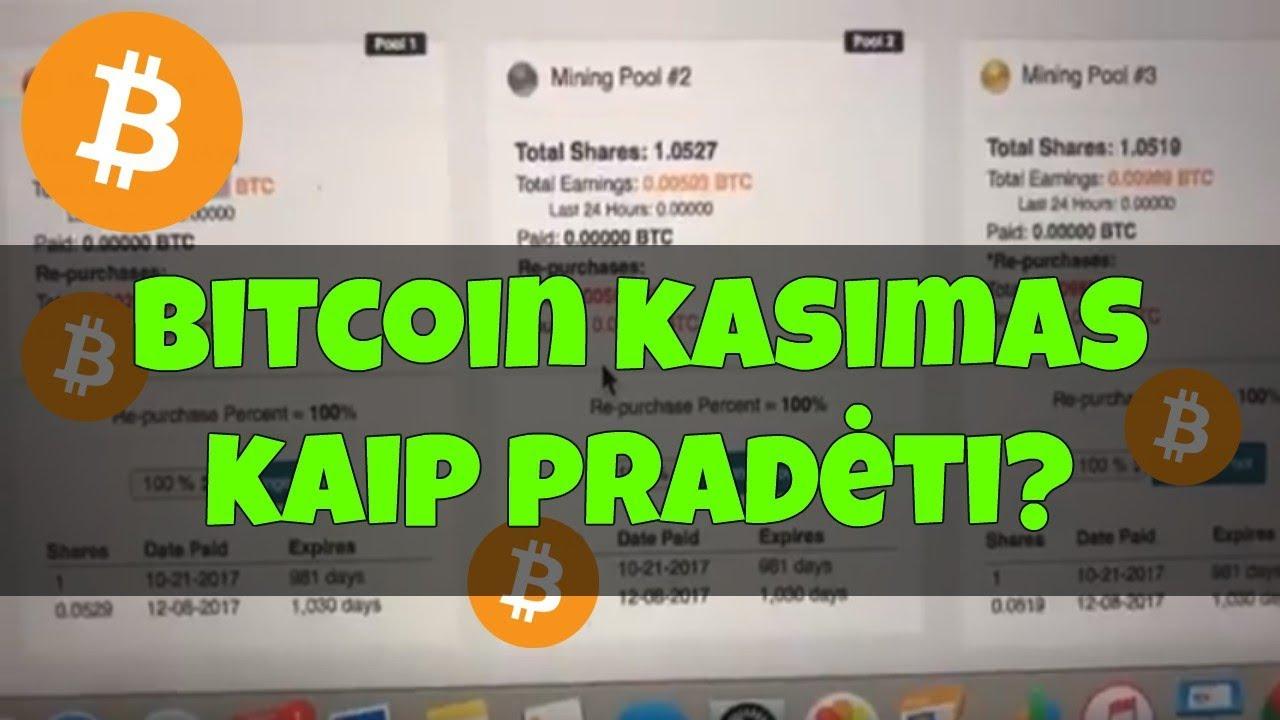Kaip aš galiu pradėti kasinėti Bitcoin?